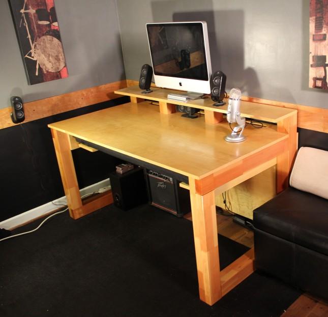 studio desk diy plans diy how to make defective28kzs. Black Bedroom Furniture Sets. Home Design Ideas