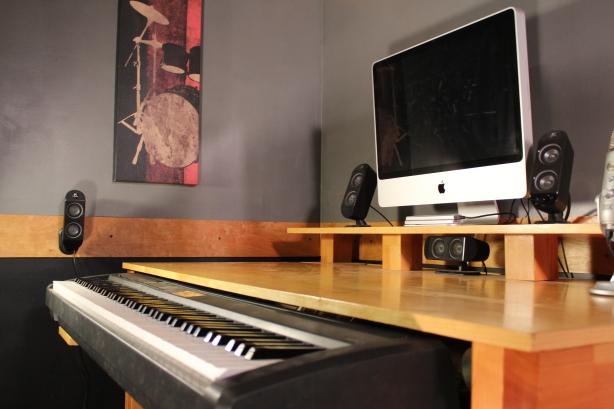 Diy music studio desk plans wooden pdf woodworking